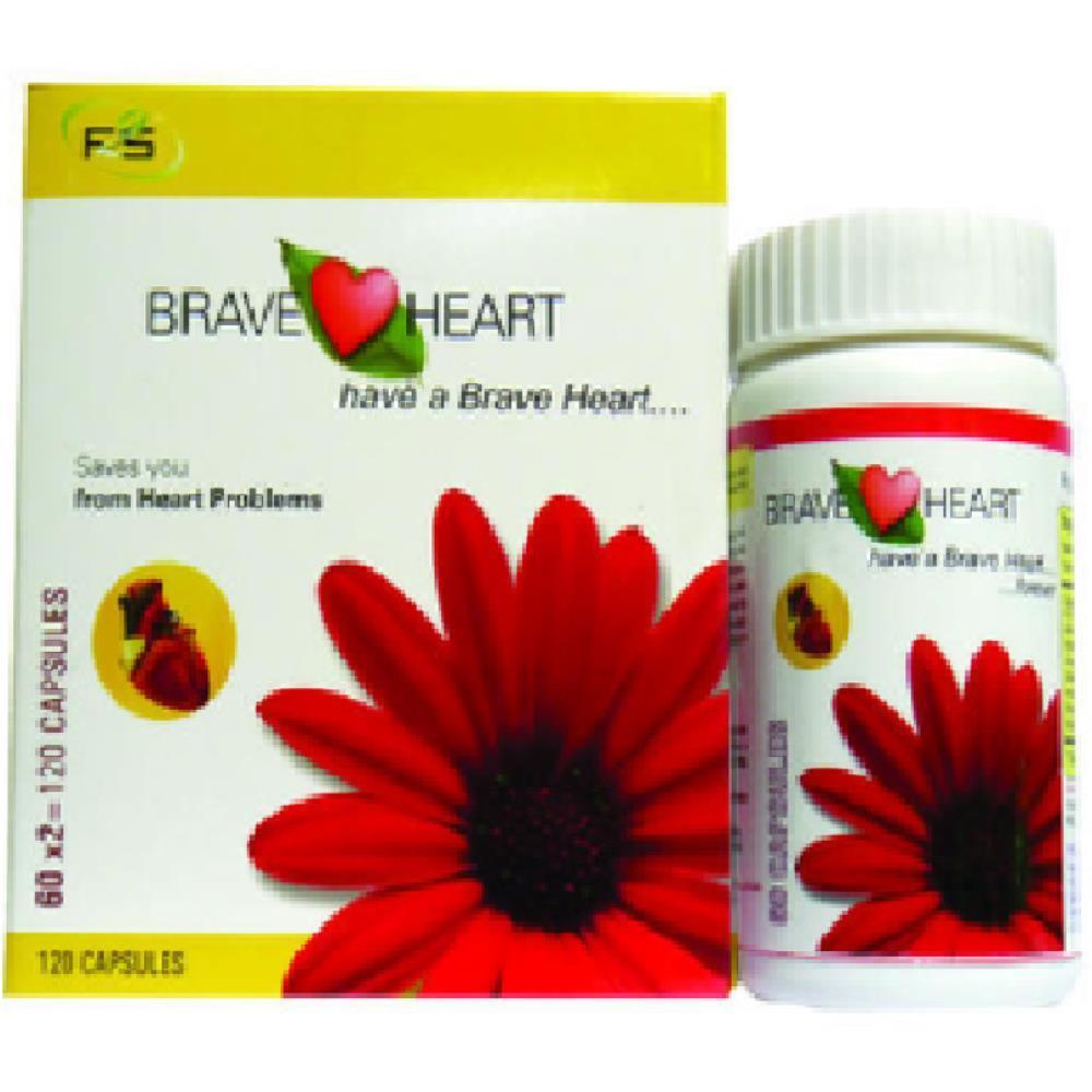 VXL Ayurvedic Brave Heart Cardiac Care Capsules (60caps)