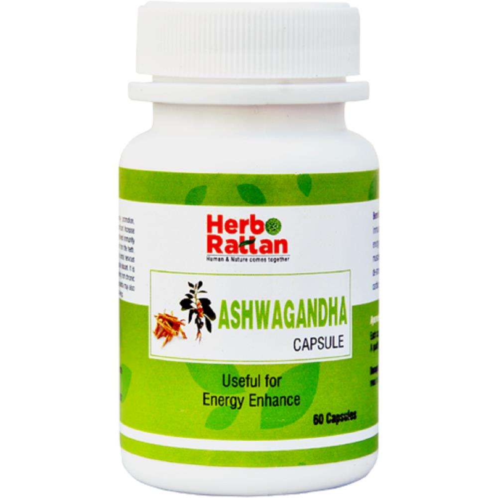Rajni Herbals Ashwagandha Capsule (60caps, Pack of 2)