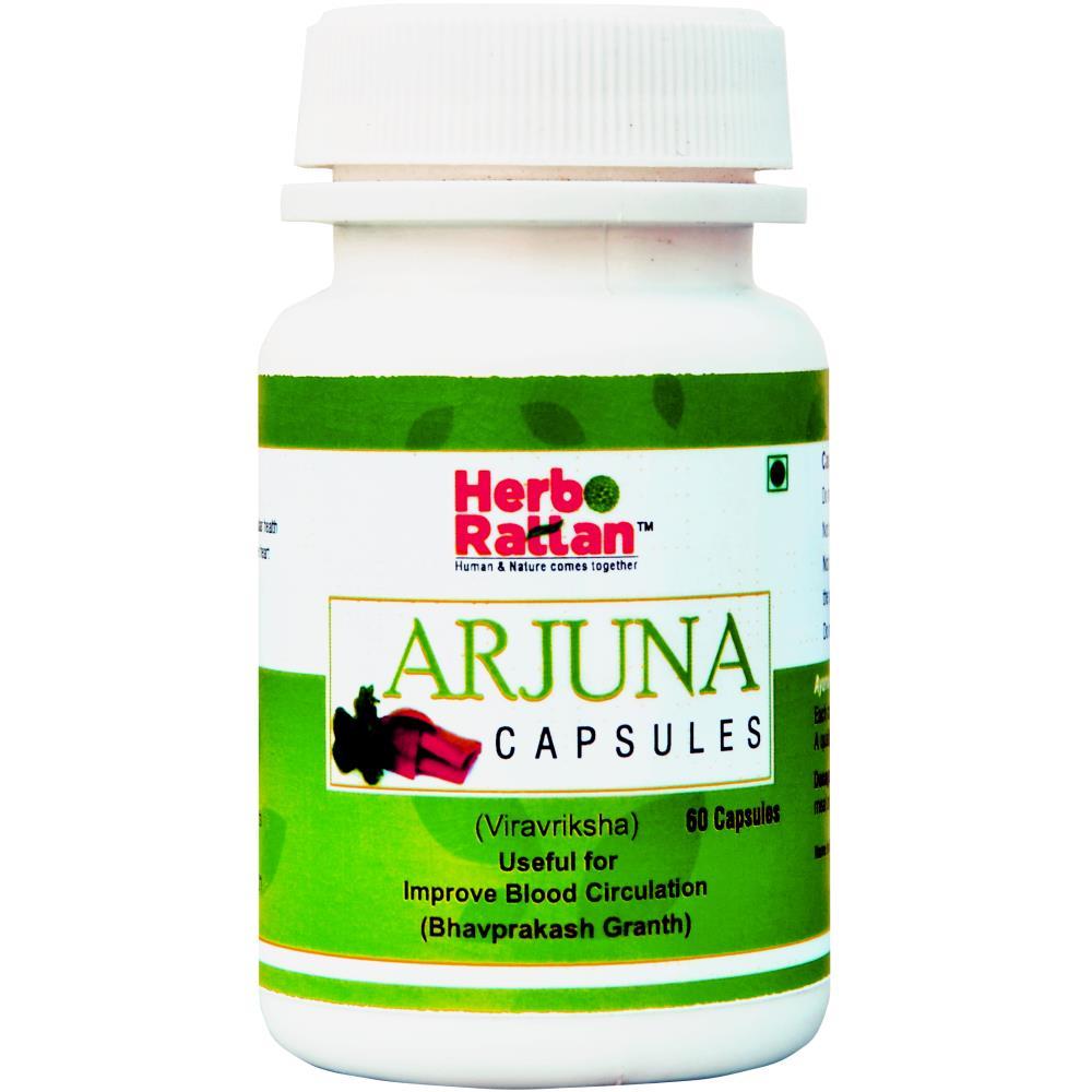 Rajni Herbals Arjuna Capsule (60caps, Pack of 2)
