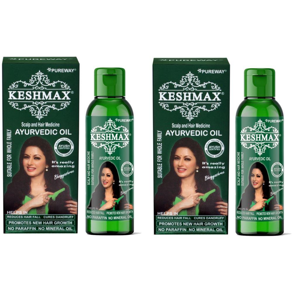 Keshmax Ayurvedic Medicinal Hair Oil (120ml, Pack of 2)
