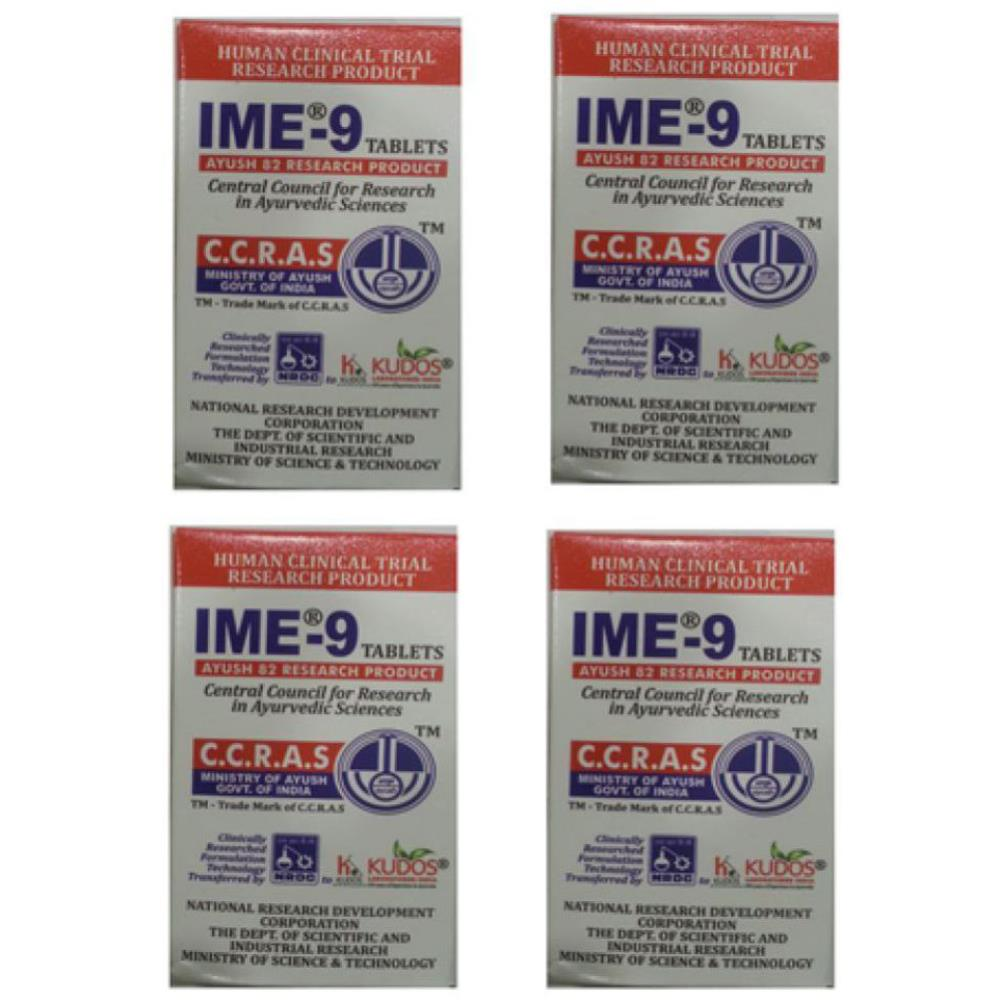 Kudos IME-9 Tablet (60tab, Pack of 4)