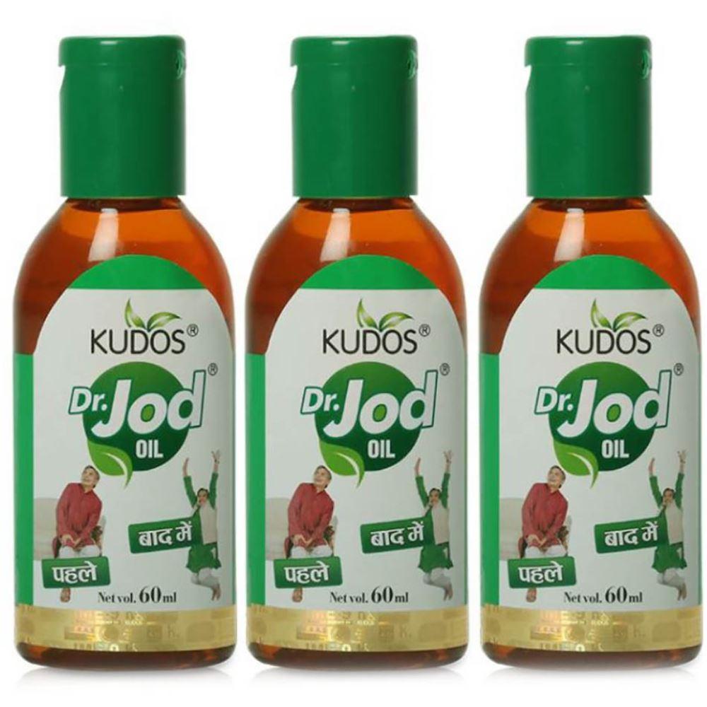 Kudos Dr. Jod Oil (180ml, Pack of 3)