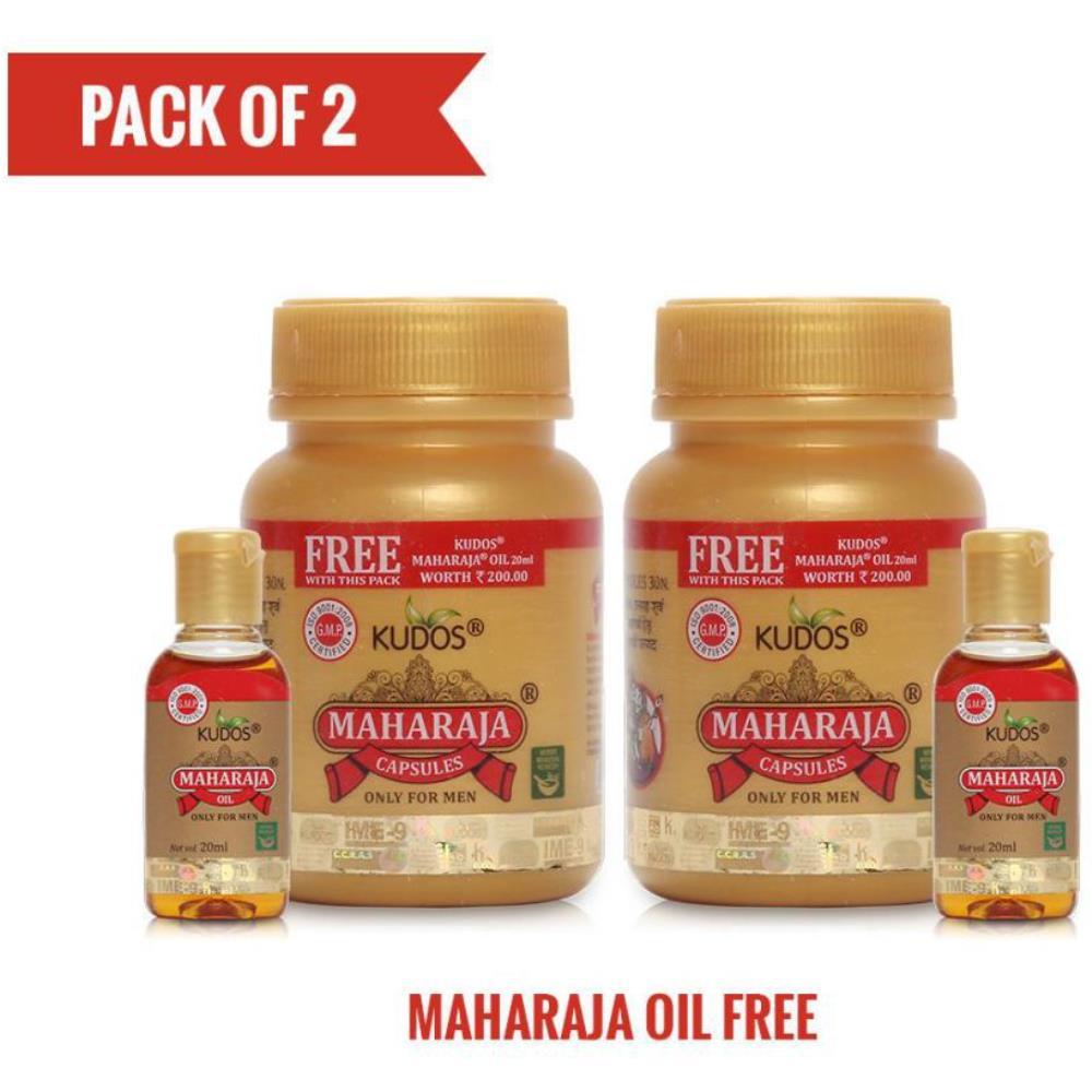 Kudos Maharaja Capsules & Maharaja Oil Free Capsule (30caps, Pack of 2)