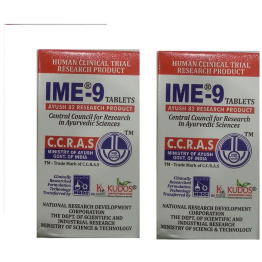 Kudos IME-9 Tablets (180tab, Pack of 2)