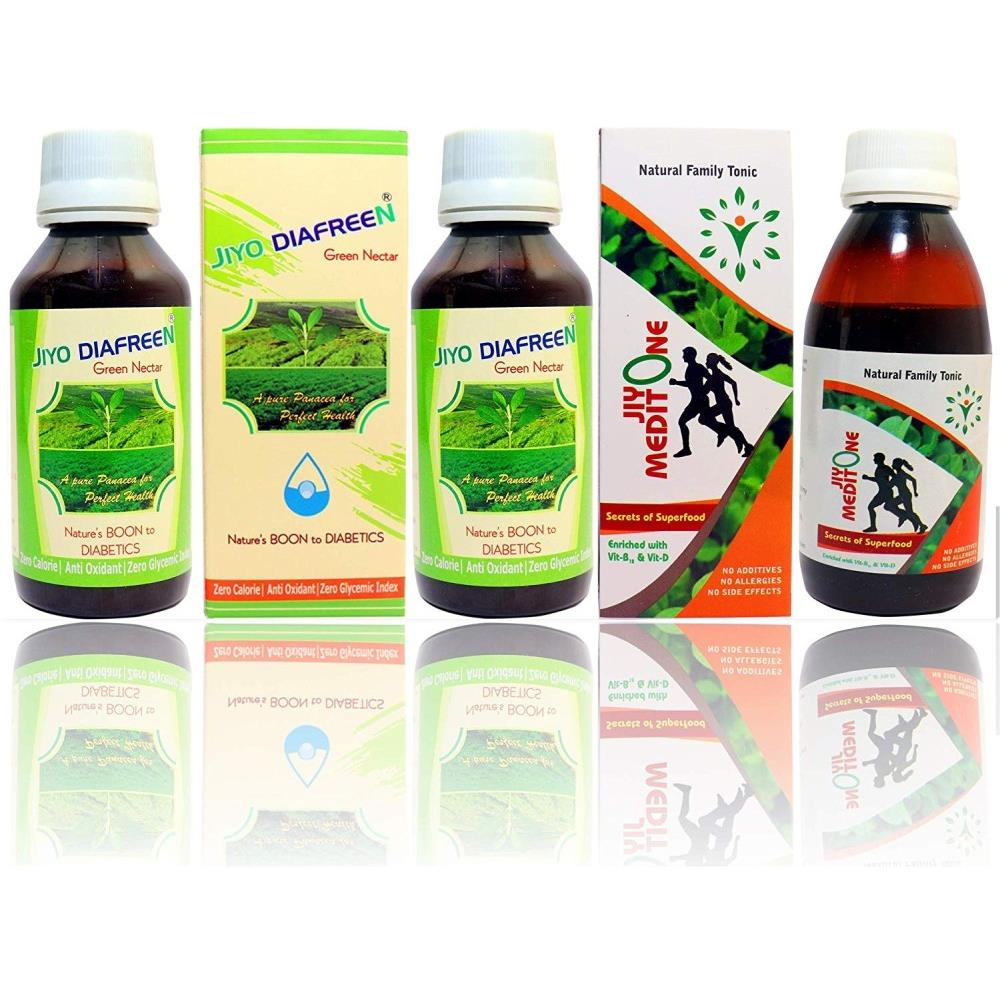 Jiyo Diafreen 3 Pcs(100 Ml) & Meditone 2 Pcs(120 Ml) (Combo Pack) (1Box)