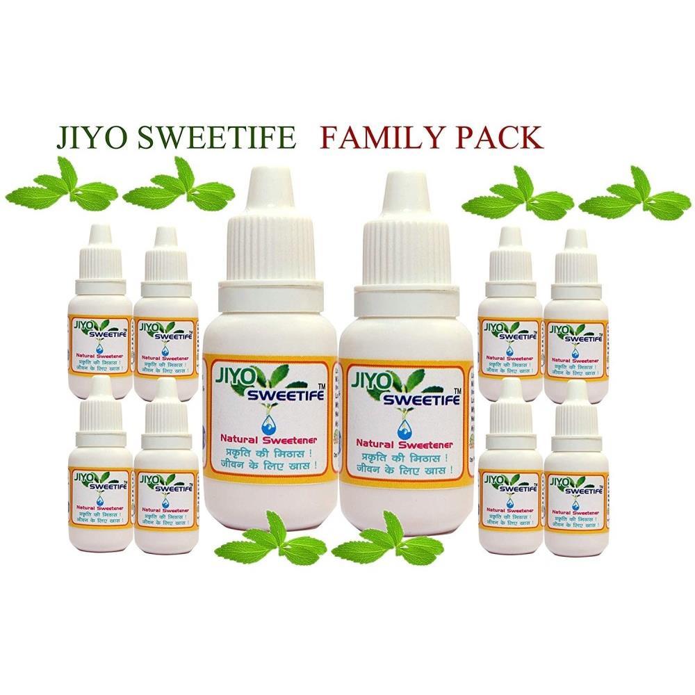 Jiyo Sweetife – Natural Sweetener Purified Stevia Extract (15ml, Pack of 8)