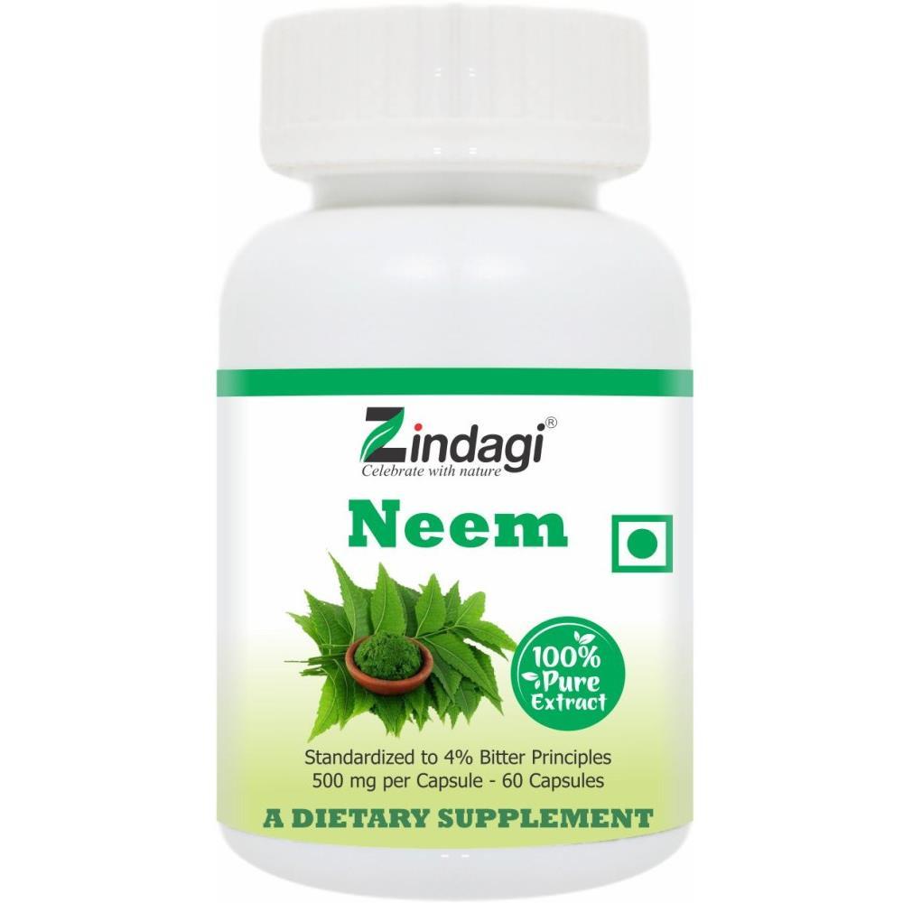 Zindagi 100% Neem Extract Caps (60caps)