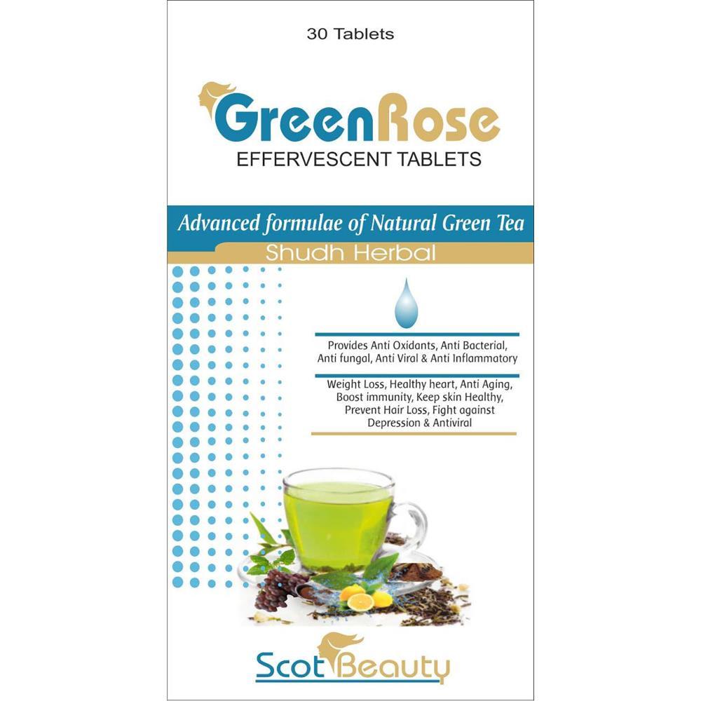 Scot Beauty Green Rose Effervescent Tablet (30tab)