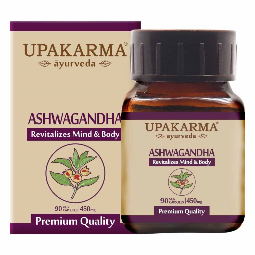 Upakarma Ayurveda Ashwagandha Capsule For Strength, Stamina And Power (90caps)