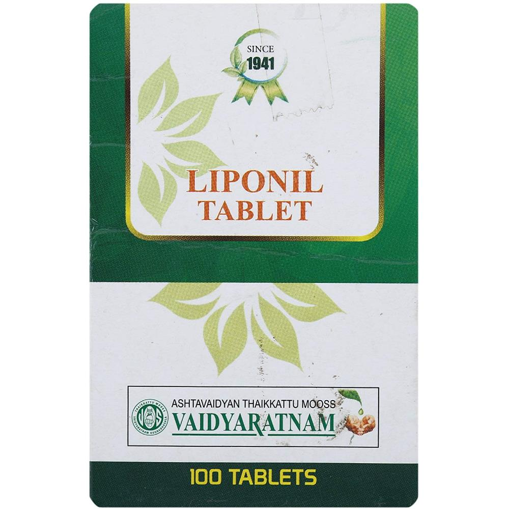 Vaidyaratnam Liponil Tablets (100tab)