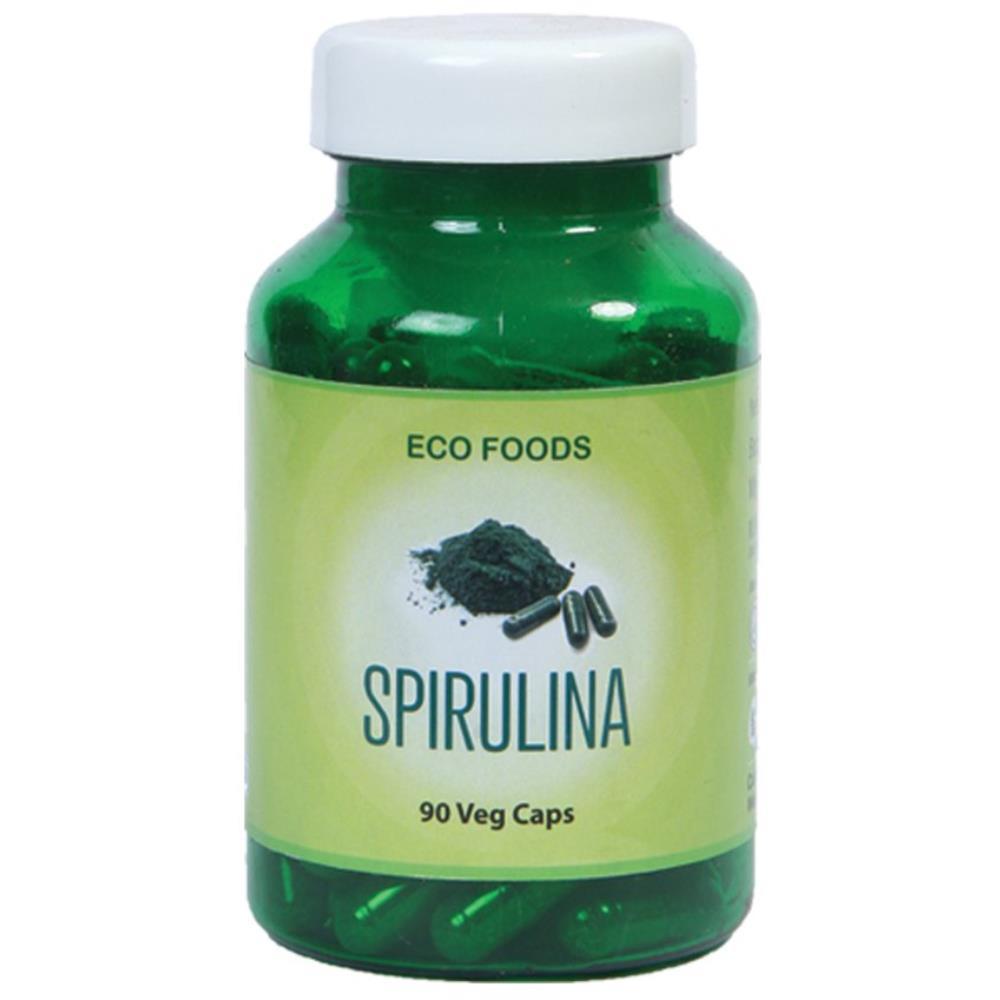 Eco Foods Spirulina 500Mg Capsules (90caps)