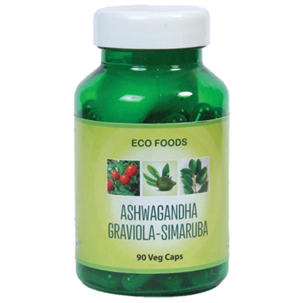 Eco Foods Anjaneya Graviola Simaruba 500Mg Veg Capsules (90caps)