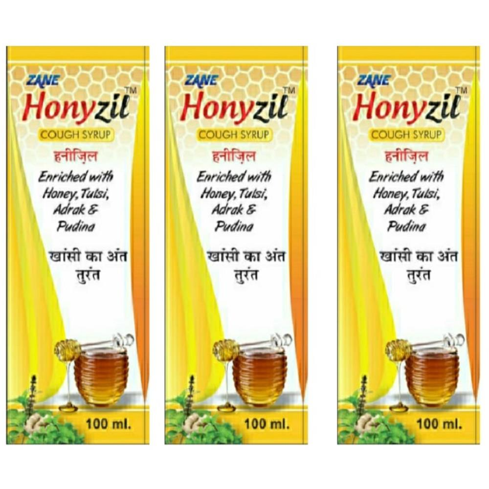 Zane Honyzil Cough Syrup (100ml, Pack of 3)
