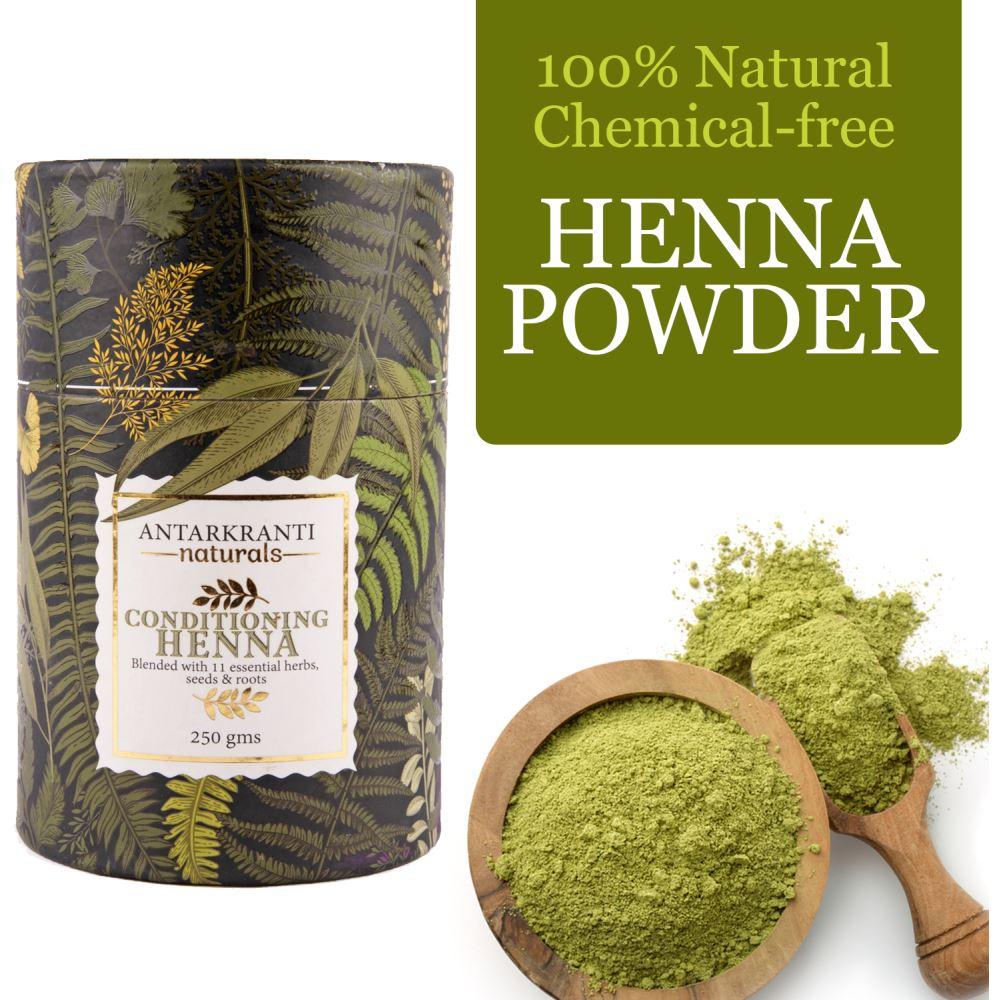 Antarkranti 100% Natural Chemical Free Conditioning Henna Powder (250g)