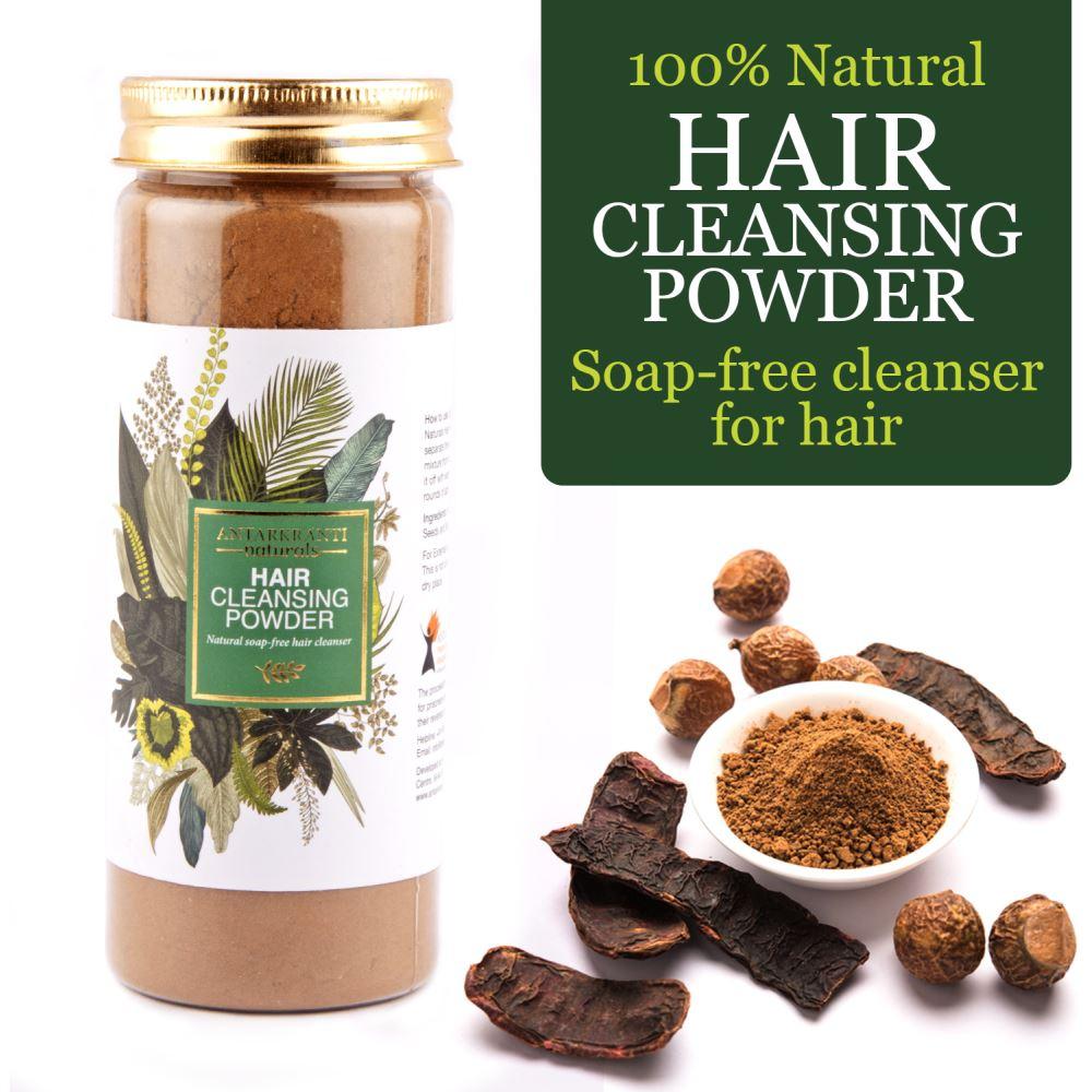 Antarkranti 100% Natural Soap-Free Hair Cleansing Powder (200g)