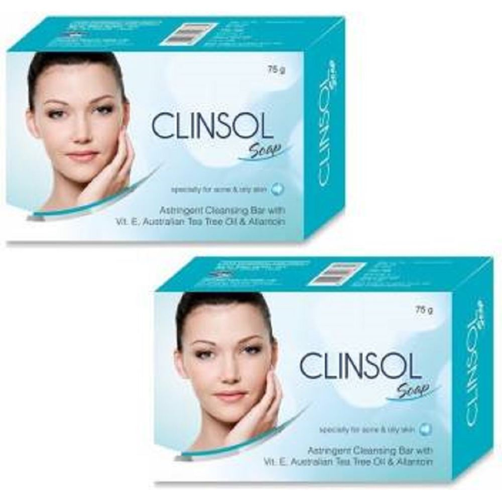 Leeford Clinsol Soap (75g, Pack of 2)
