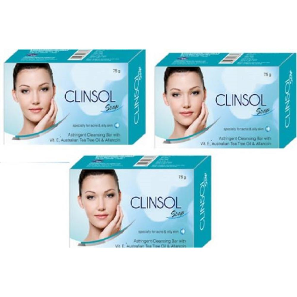 Leeford Clinsol Soap (75g, Pack of 3)