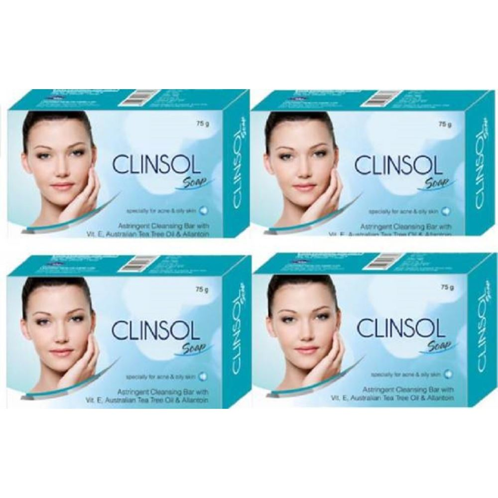 Leeford Clinsol Soap (75g, Pack of 4)