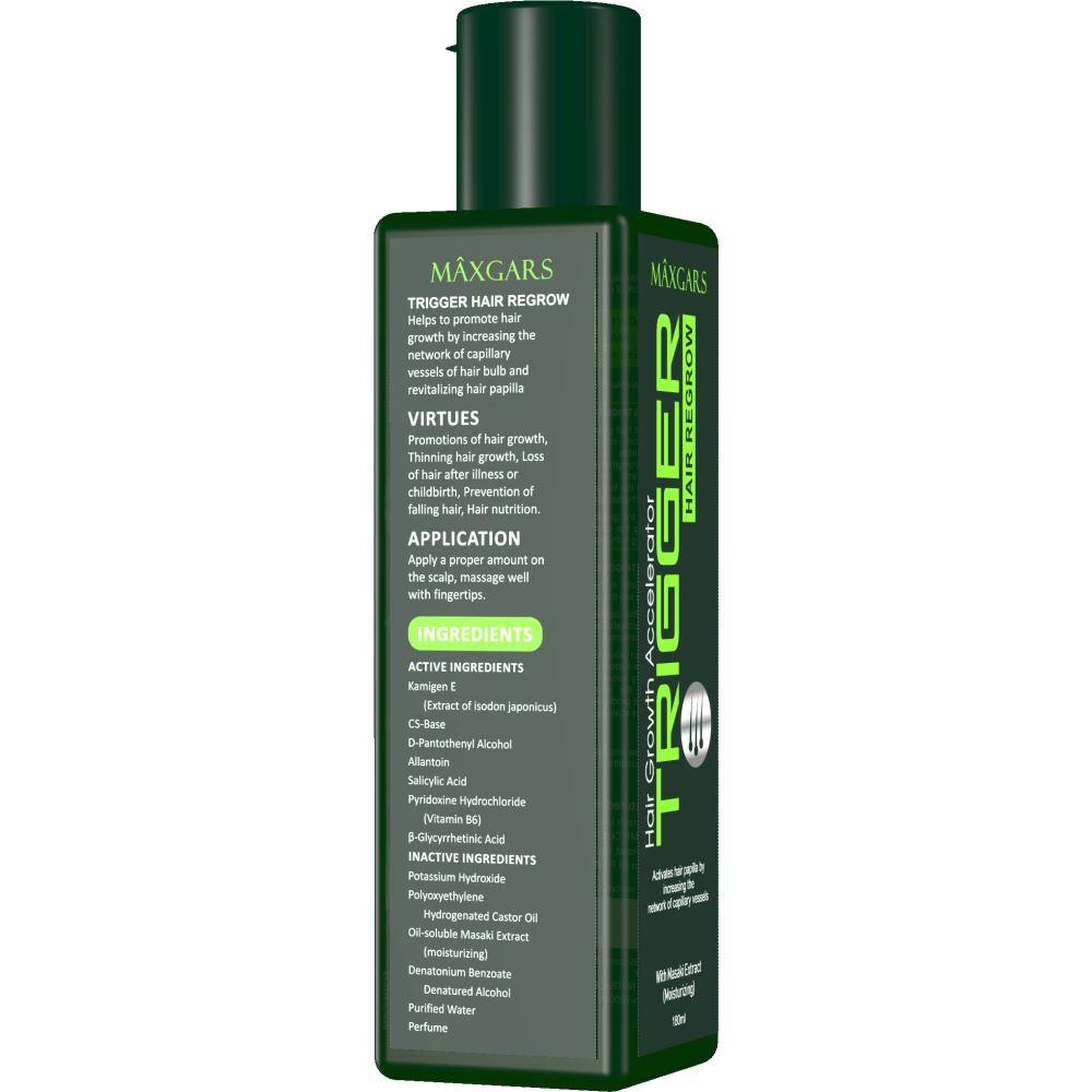 Maxgars Trigger Hair Regrow Oil (180ml)