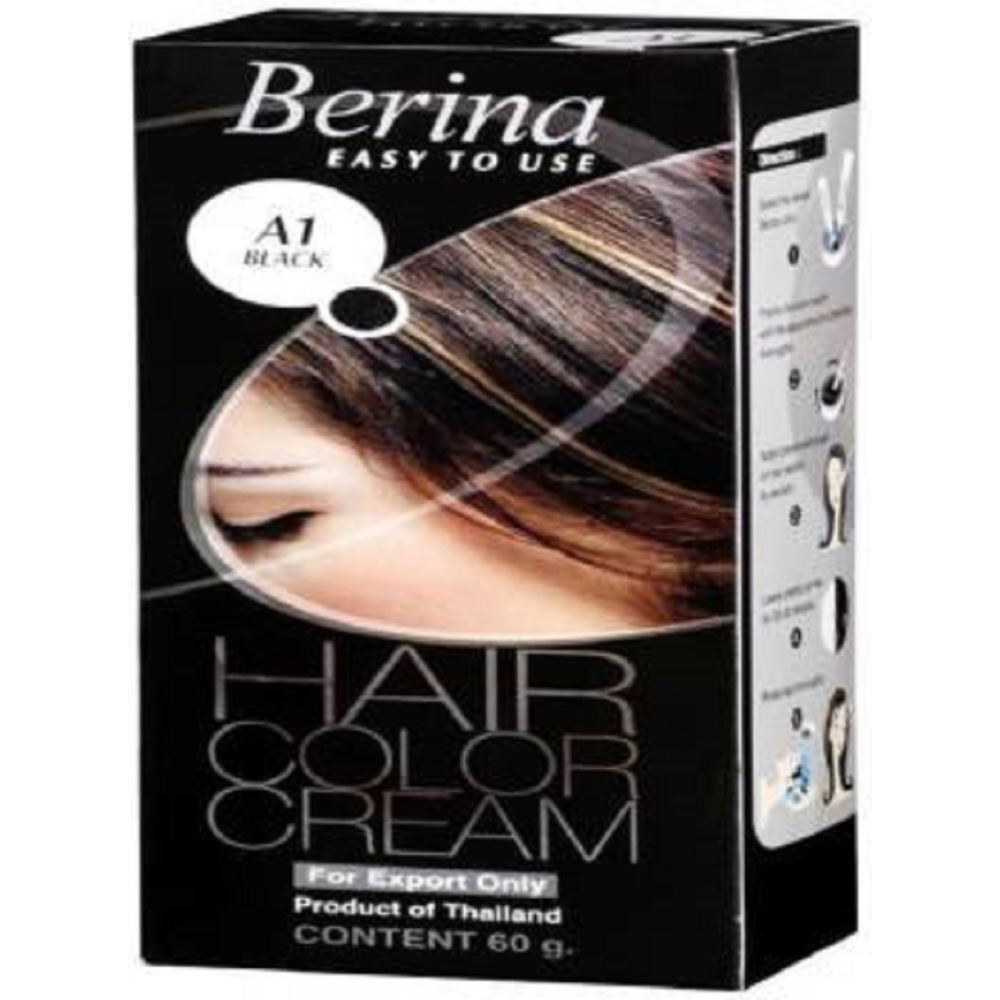 Berina Hair Color Cream (Black)-1 (120g)