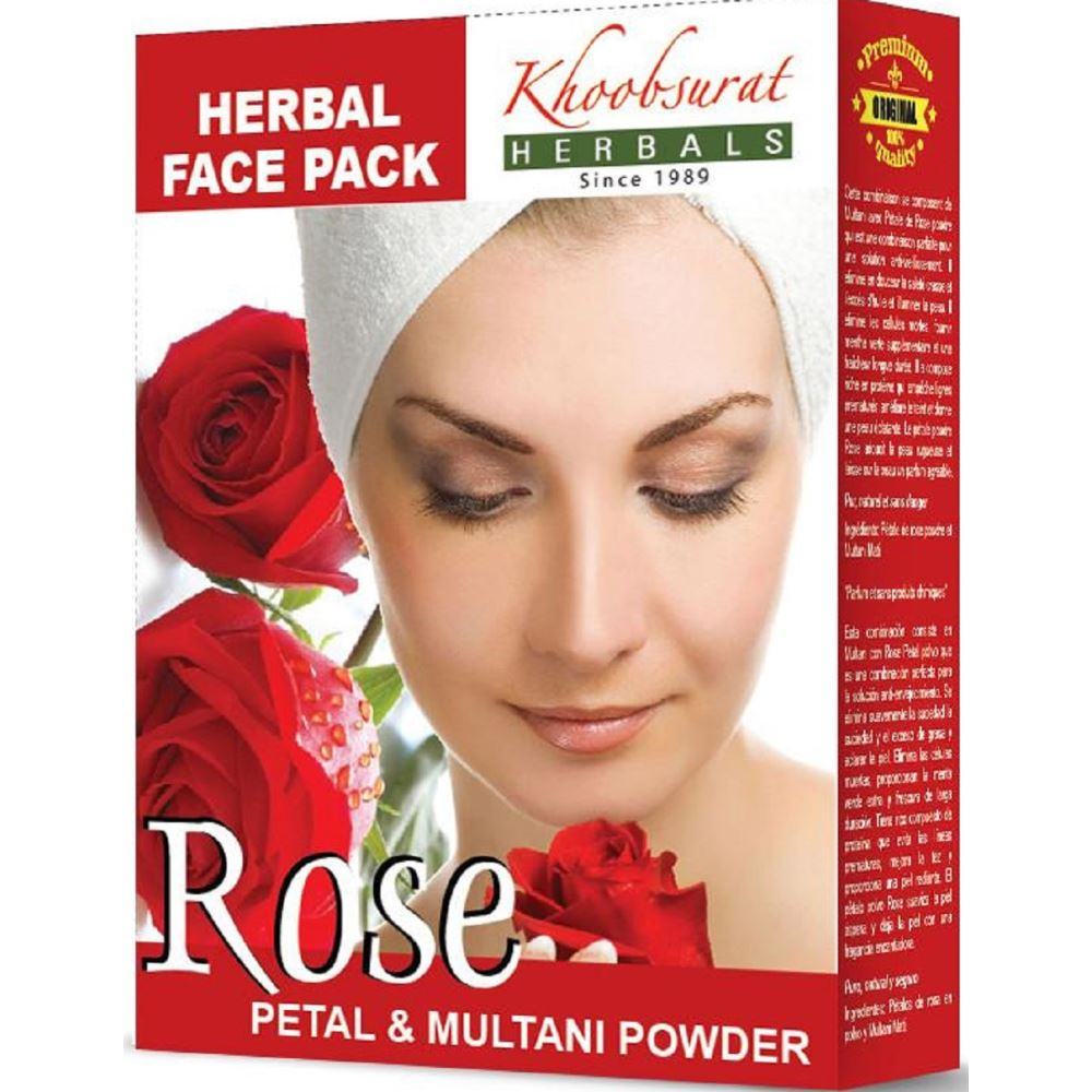 Falcon Herbs Multani Mitti With Rose (100g, Pack of 5)