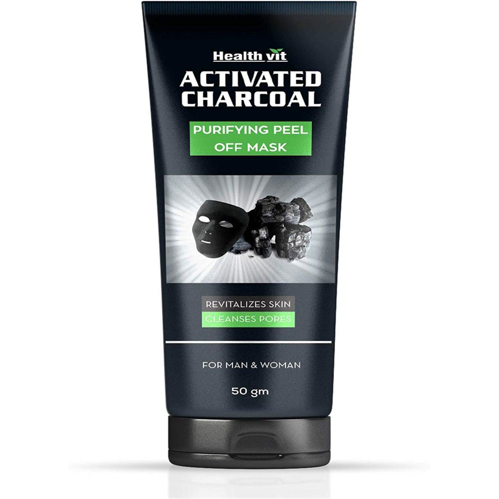 Healthvit Activated Charcoal Purifying Peel Off Mask (50g)