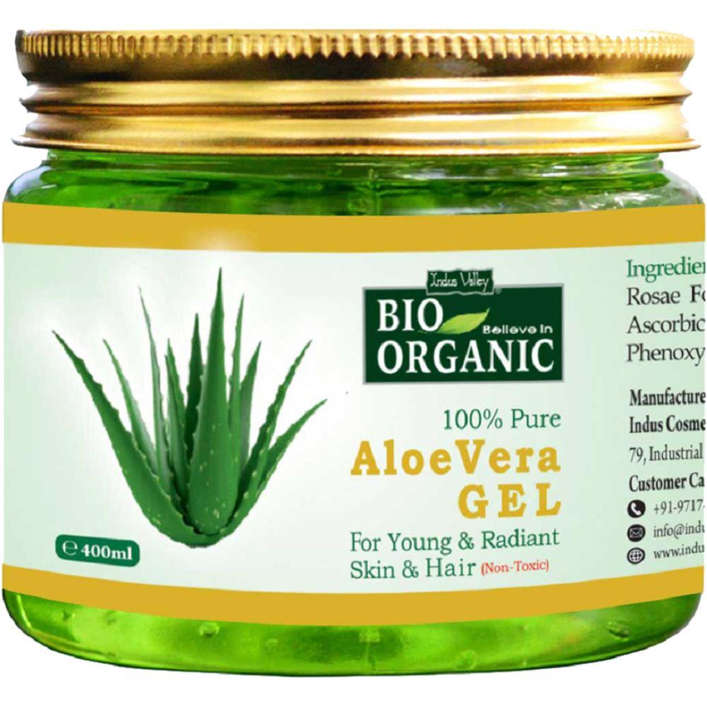 Indus valley Bio Organic Aloevera Gel (400ml)