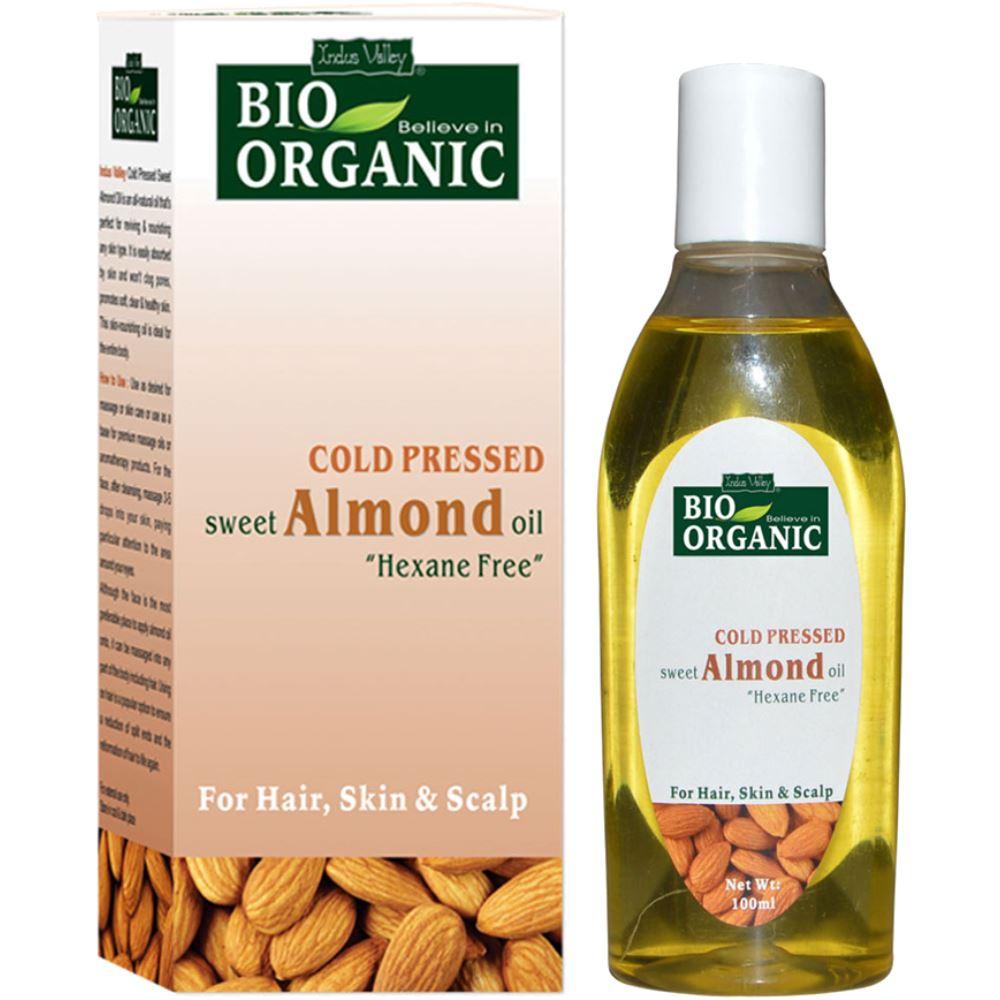 Indus valley Bio Organic Almond Oil (100ml)