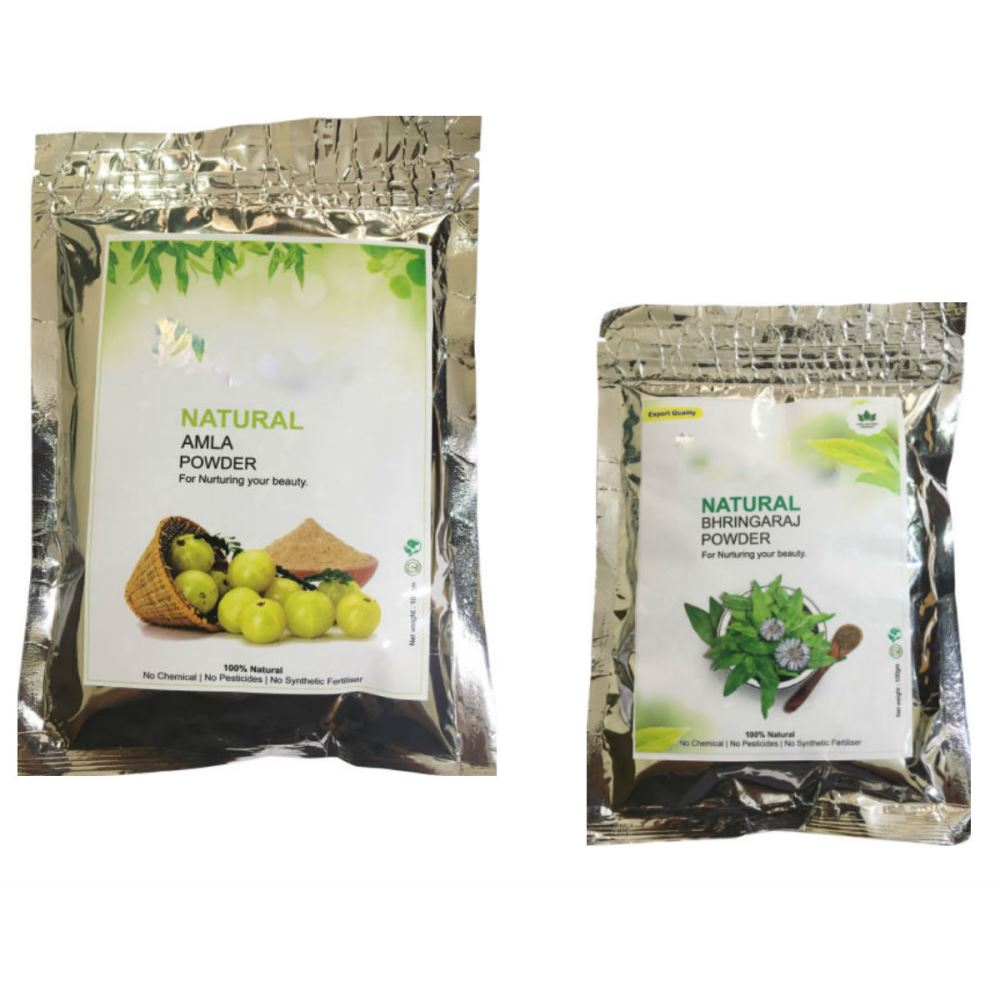 Indirang Amla Powder(100G) & Bhringraj Powder(100G) Combo Pack (1Pack)