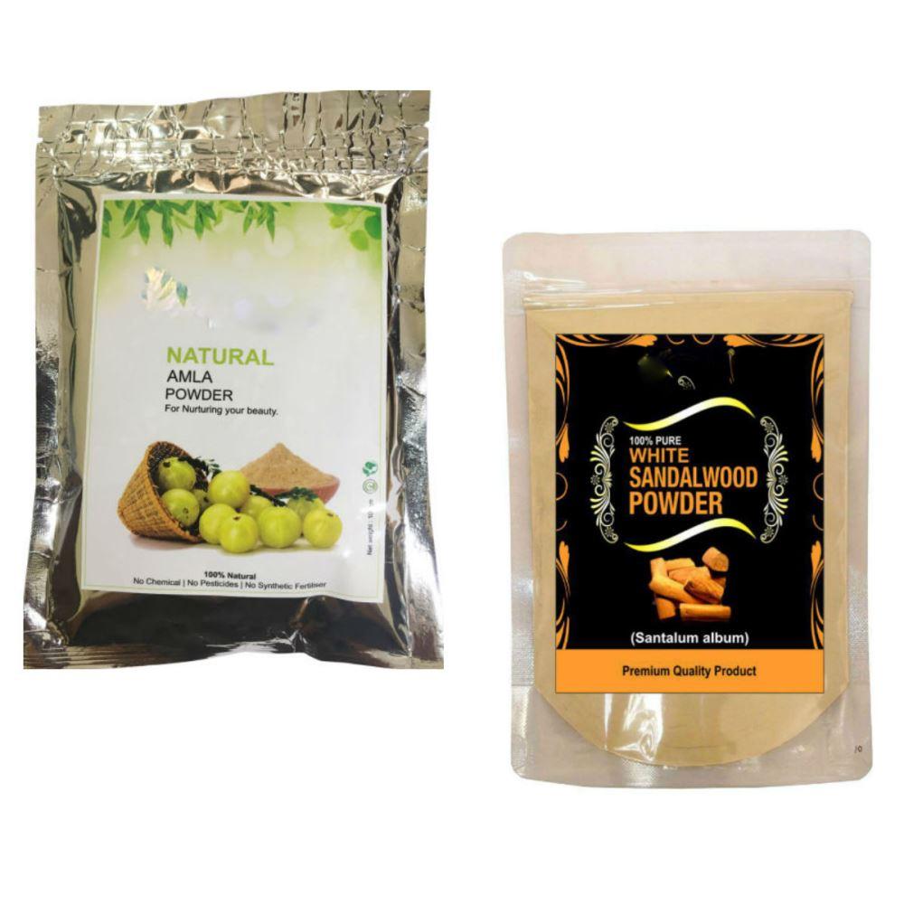 Indirang Amla Powder(100G) & Sandalwood Powder(100G) Combo Pack (1Pack)