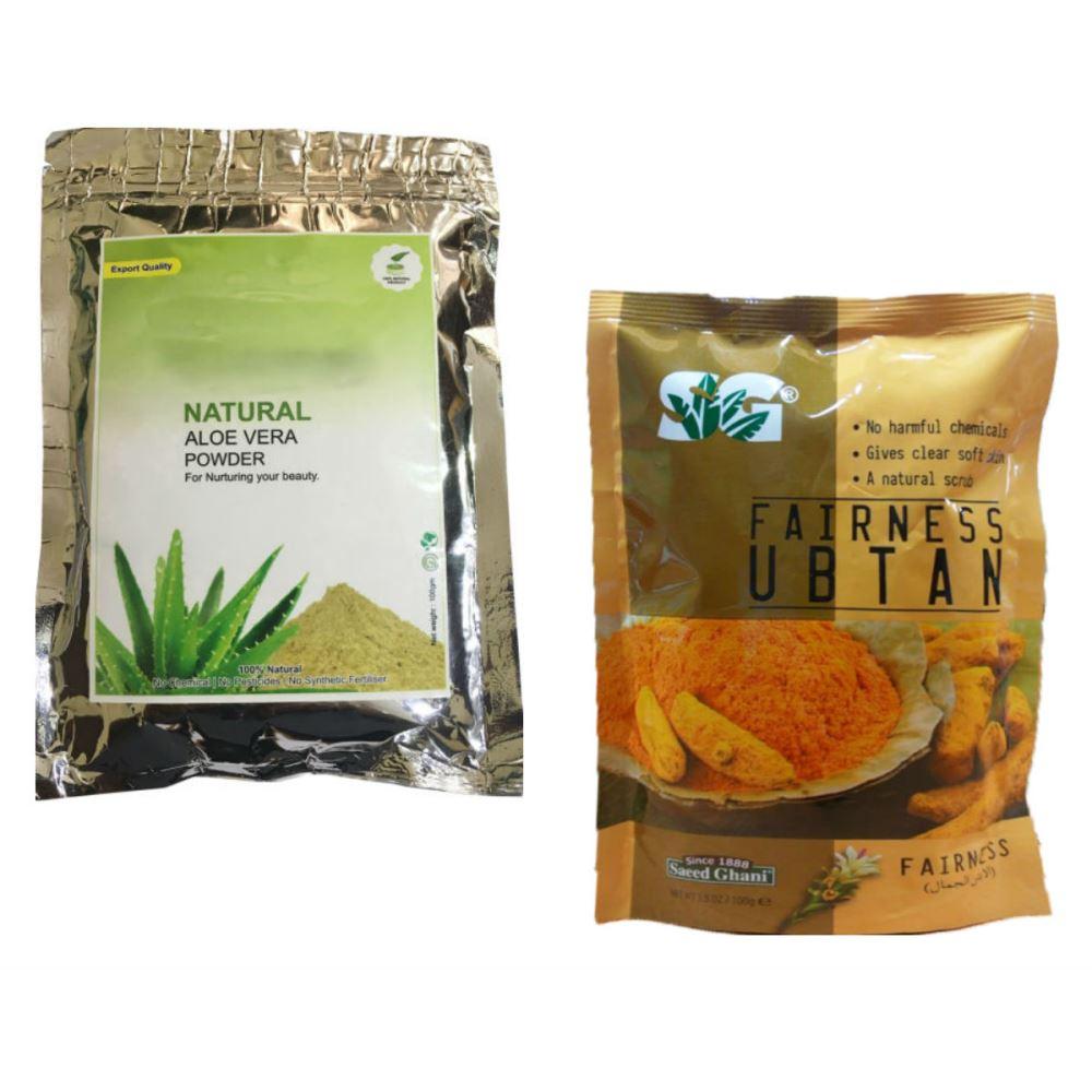Indirang Aloe Vera Powder(100G) & Fairness Powder(100G) Combo Pack (1Pack)