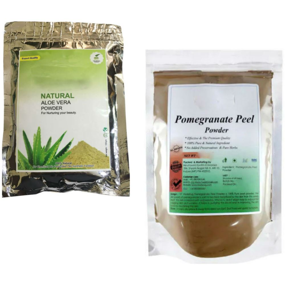 Indirang Aloe Vera Powder(100G) & Pomegranate Powder(100G) Combo Pack (1Pack)
