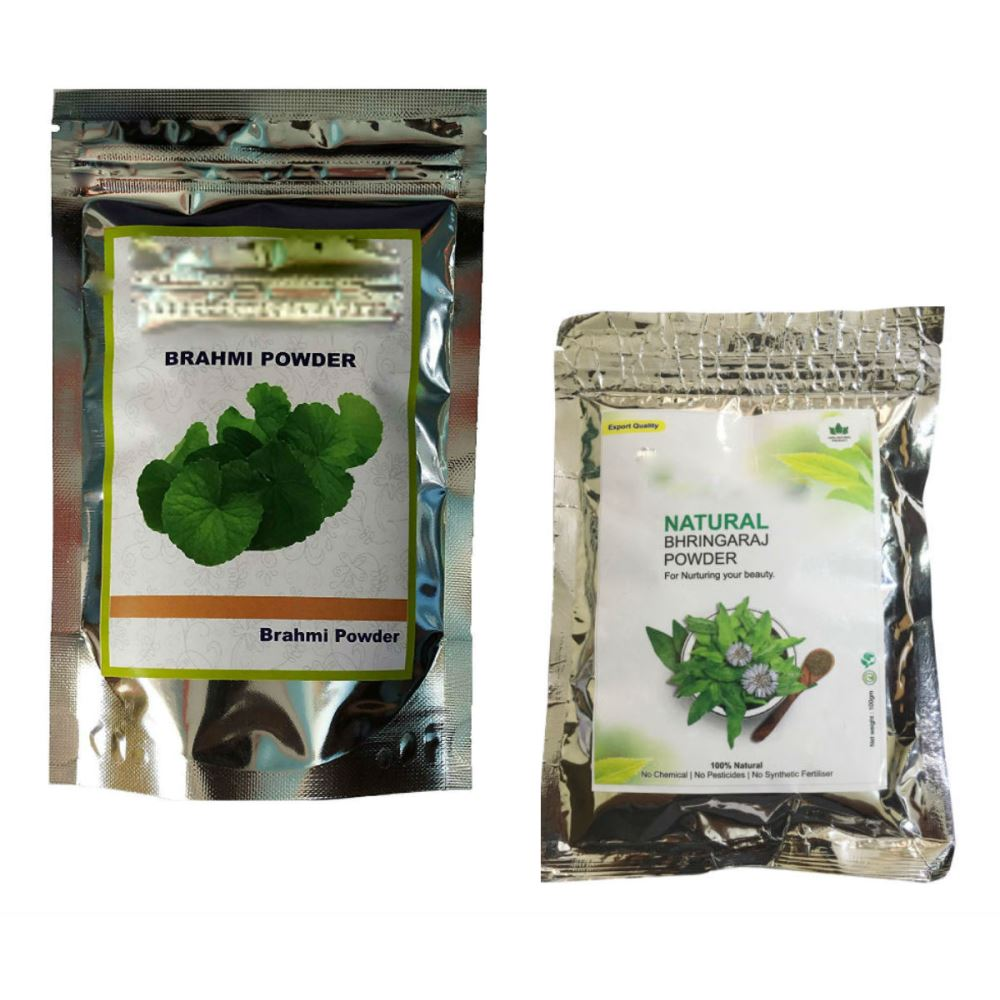 Indirang Brahmi Powder(100G) & Bhringraj Powder(100G) Combo Pack (1Pack)