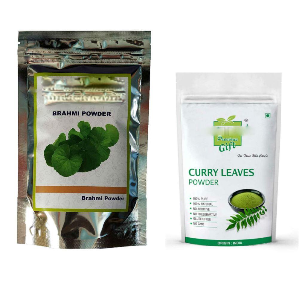 Indirang Brahmi Powder(100G) & Curry Leaf Powder(100G) Combo Pack (1Pack)