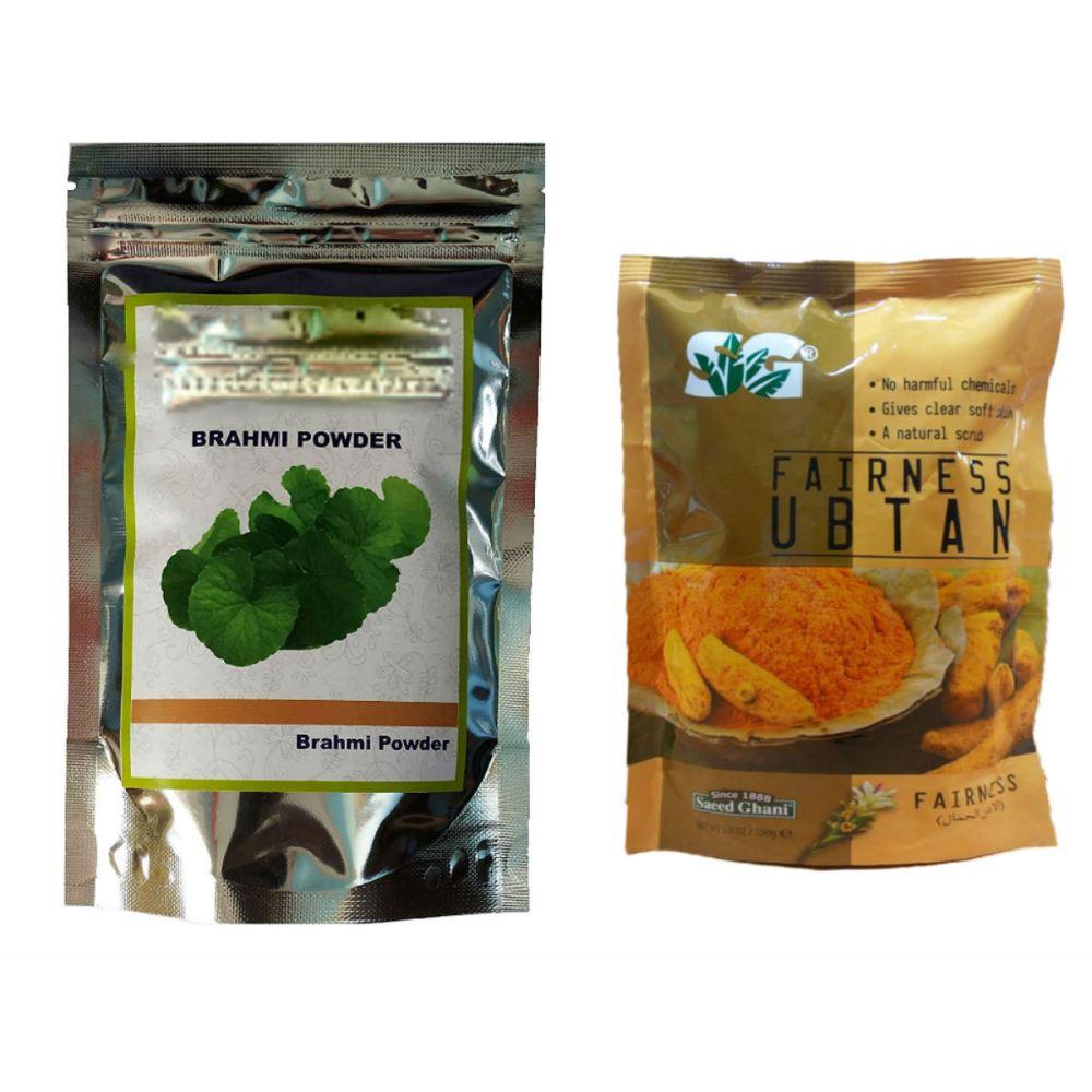 Indirang Brahmi Powder(100G) & Fairness Powder(100G) Combo Pack (1Pack)