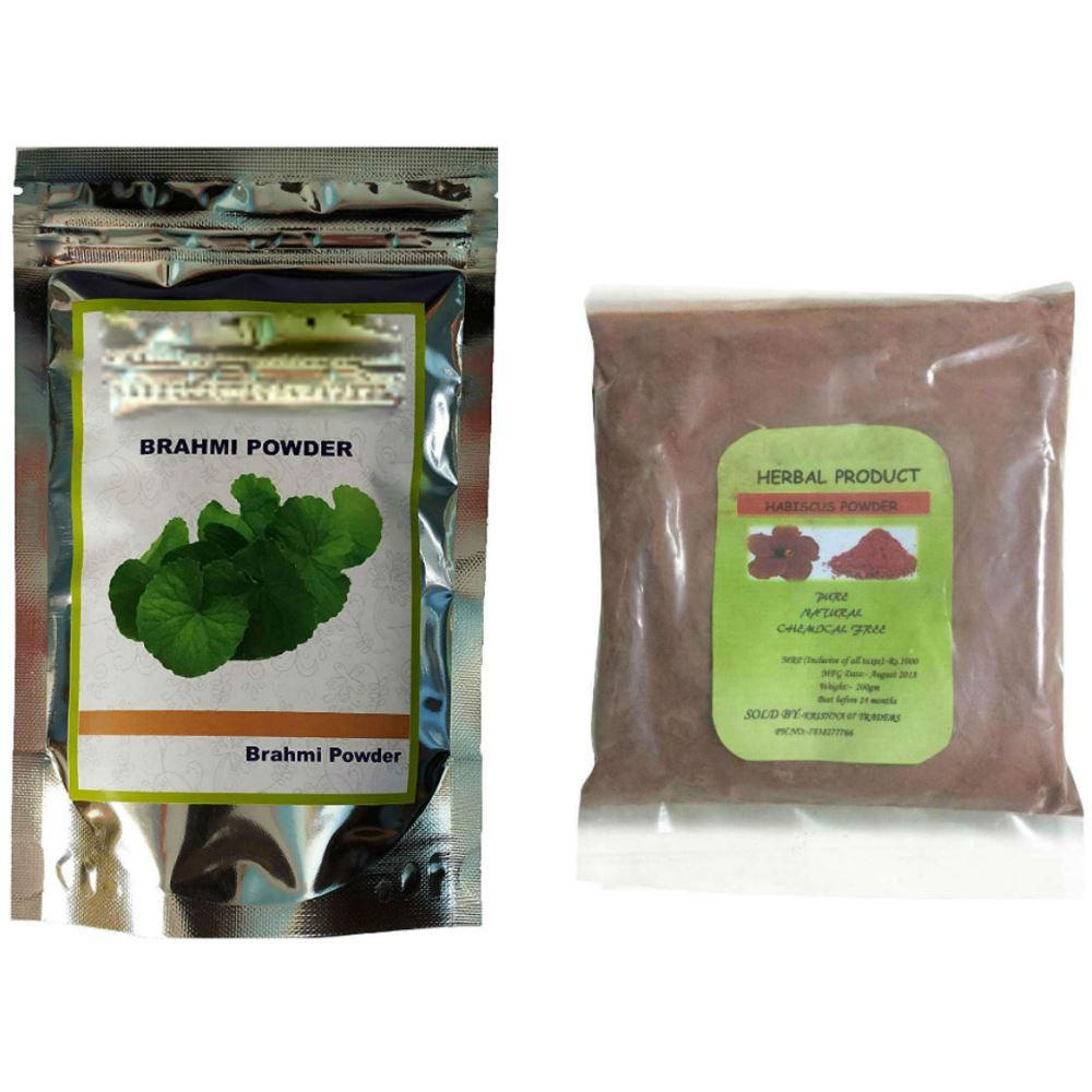 Indirang Brahmi Powder(100G) & Hibiscus Powder(100G) Combo Pack (1Pack)