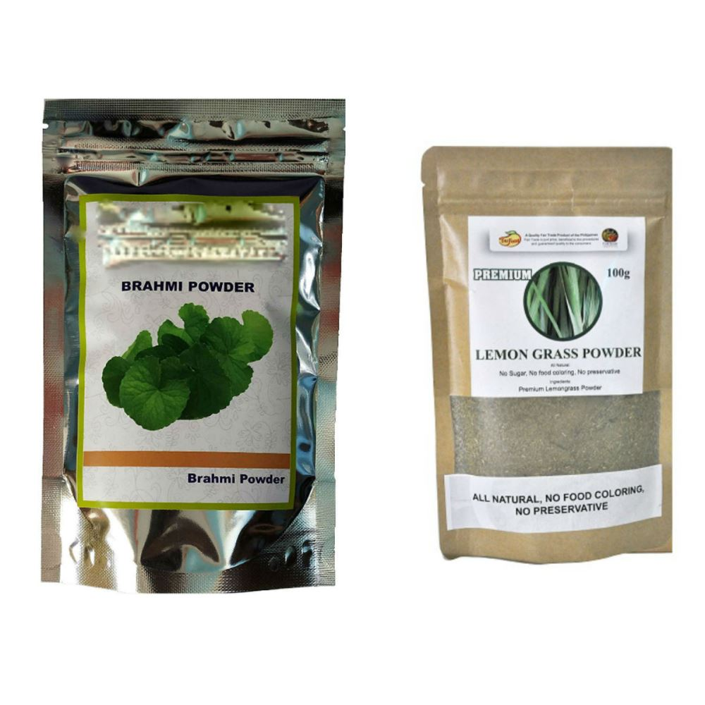 Indirang Brahmi Powder(100G) & Lemongrass Powder(100G) Combo Pack (1Pack)