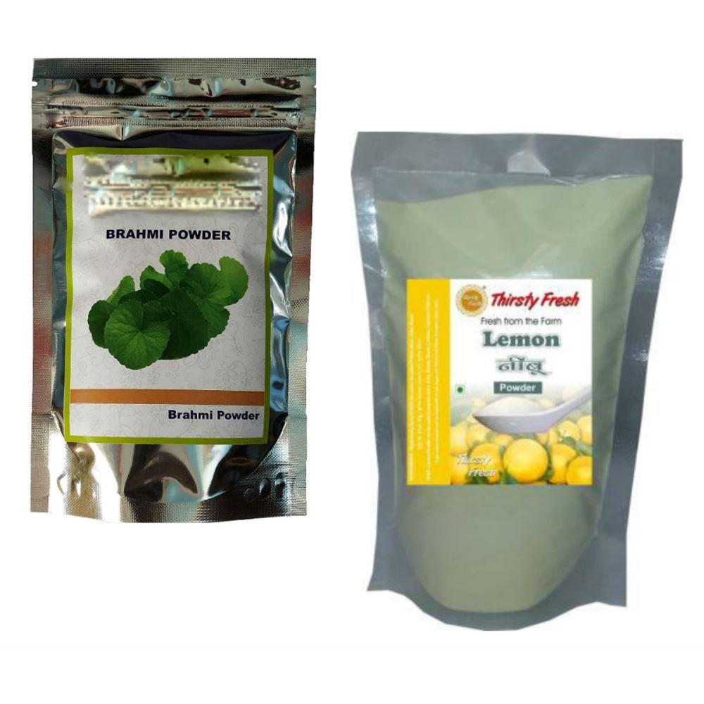 Indirang Brahmi Powder(100G) & Lemon Powder(100G) Combo Pack (1Pack)