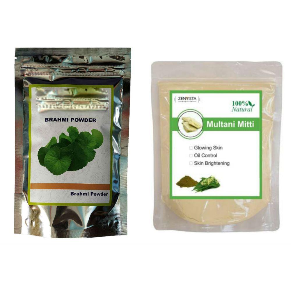 Indirang Brahmi Powder(100G) & Multani Mitti Powder(100G) Combo Pack (1Pack)
