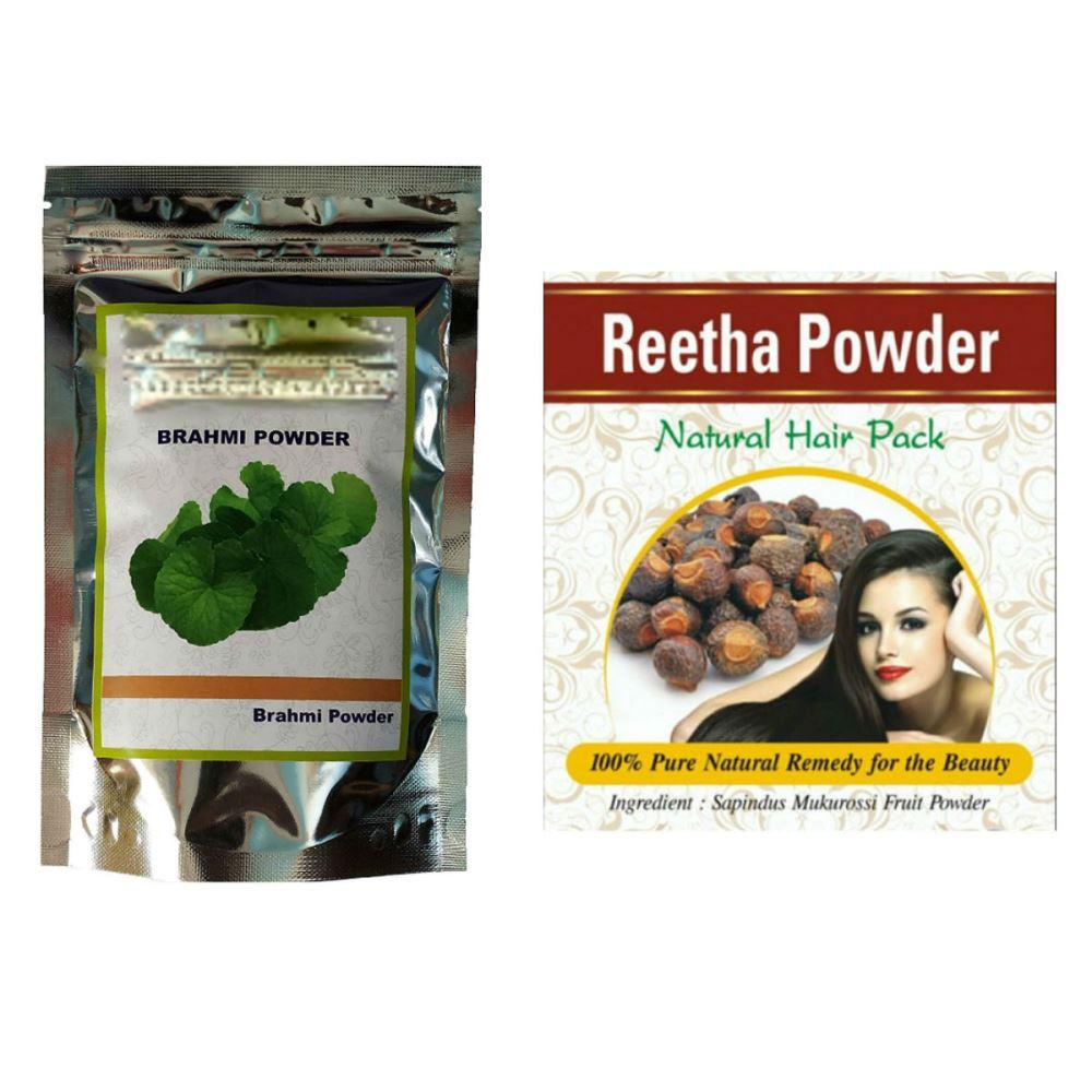 Indirang Brahmi Powder(100G) & Reetha Powder(100G) Combo Pack (1Pack)