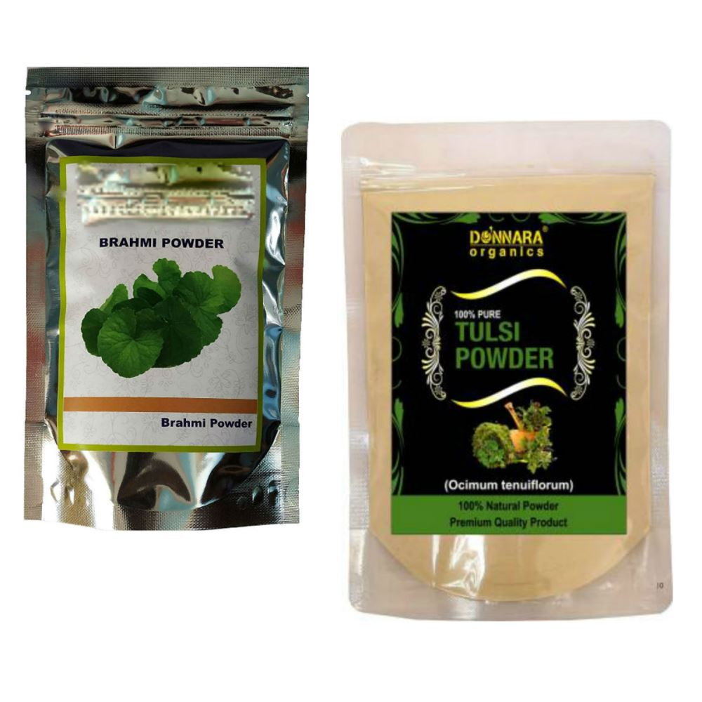 Indirang Brahmi Powder(100G) & Tulsi Powder(100G) Combo Pack (1Pack)