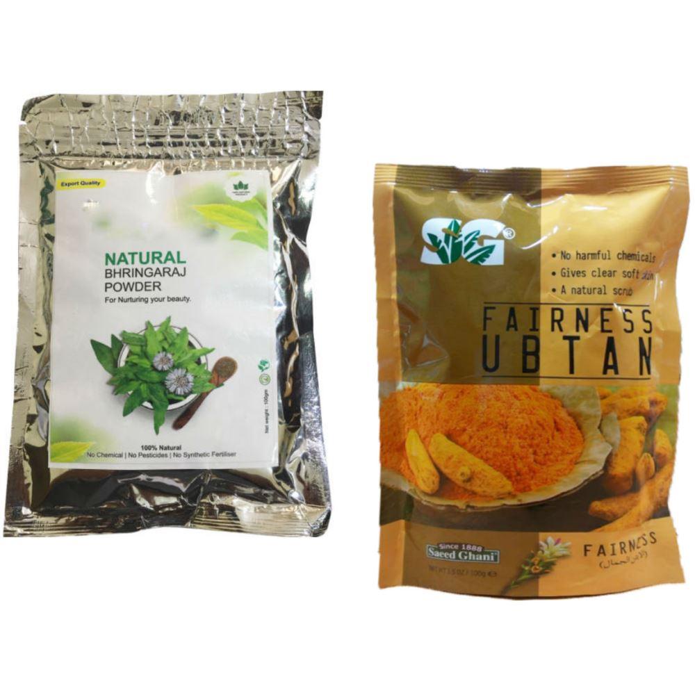 Indirang Bhringraj Powder(100G) & Fairness Powder(100G) Combo Pack (1Pack)