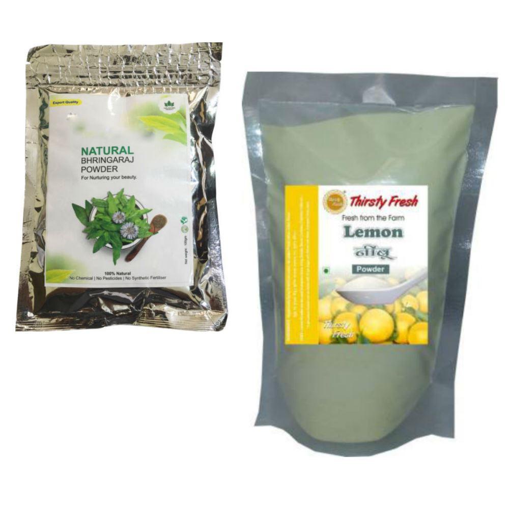 Indirang Bhringraj Powder(100G) & Lemon Powder(100G) Combo Pack (1Pack)