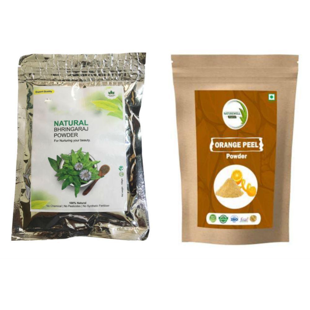 Indirang Bhringraj Powder(100G) & Orange Powder(100G) Combo Pack (1Pack)