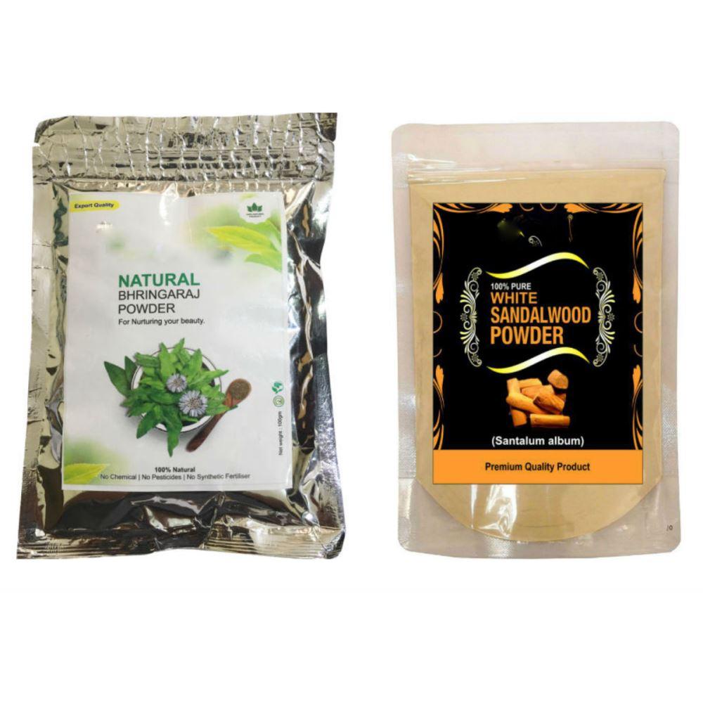 Indirang Bhringraj Powder(100G) & Sandalwood Powder(100G) Combo Pack (1Pack)