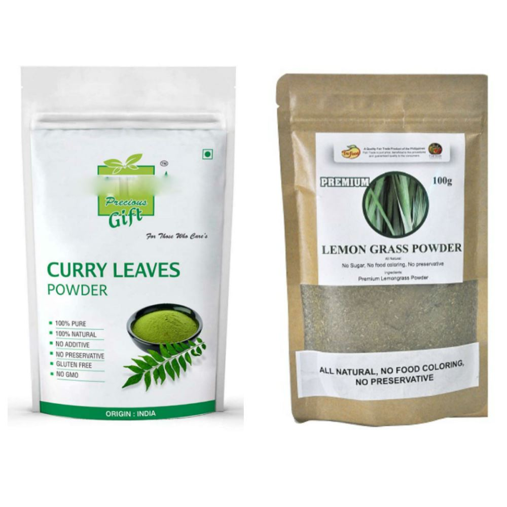 Indirang Curry Leaf Powder(100G) Powder & Lemongrass Powder(100G) Combo Pack (1Pack)
