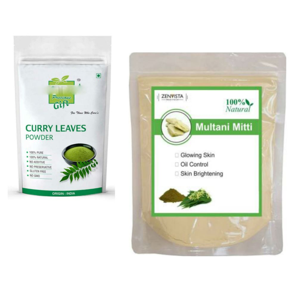 Indirang Curry Leaf Powder(100G) Powder & Multani Mitti Powder(100G) Combo Pack (1Pack)