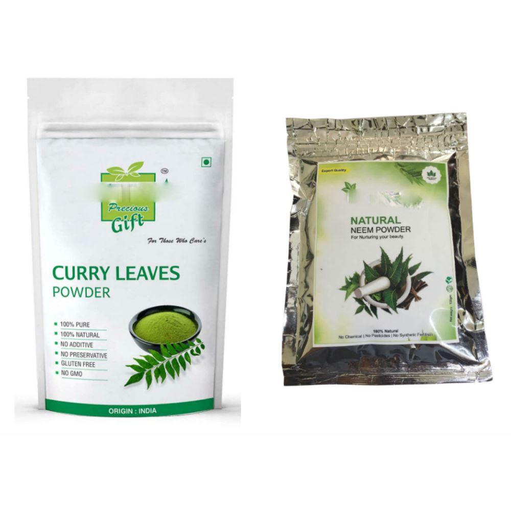 Indirang Curry Leaf Powder(100G) Powder & Neem Powder(100G) Combo Pack (1Pack)