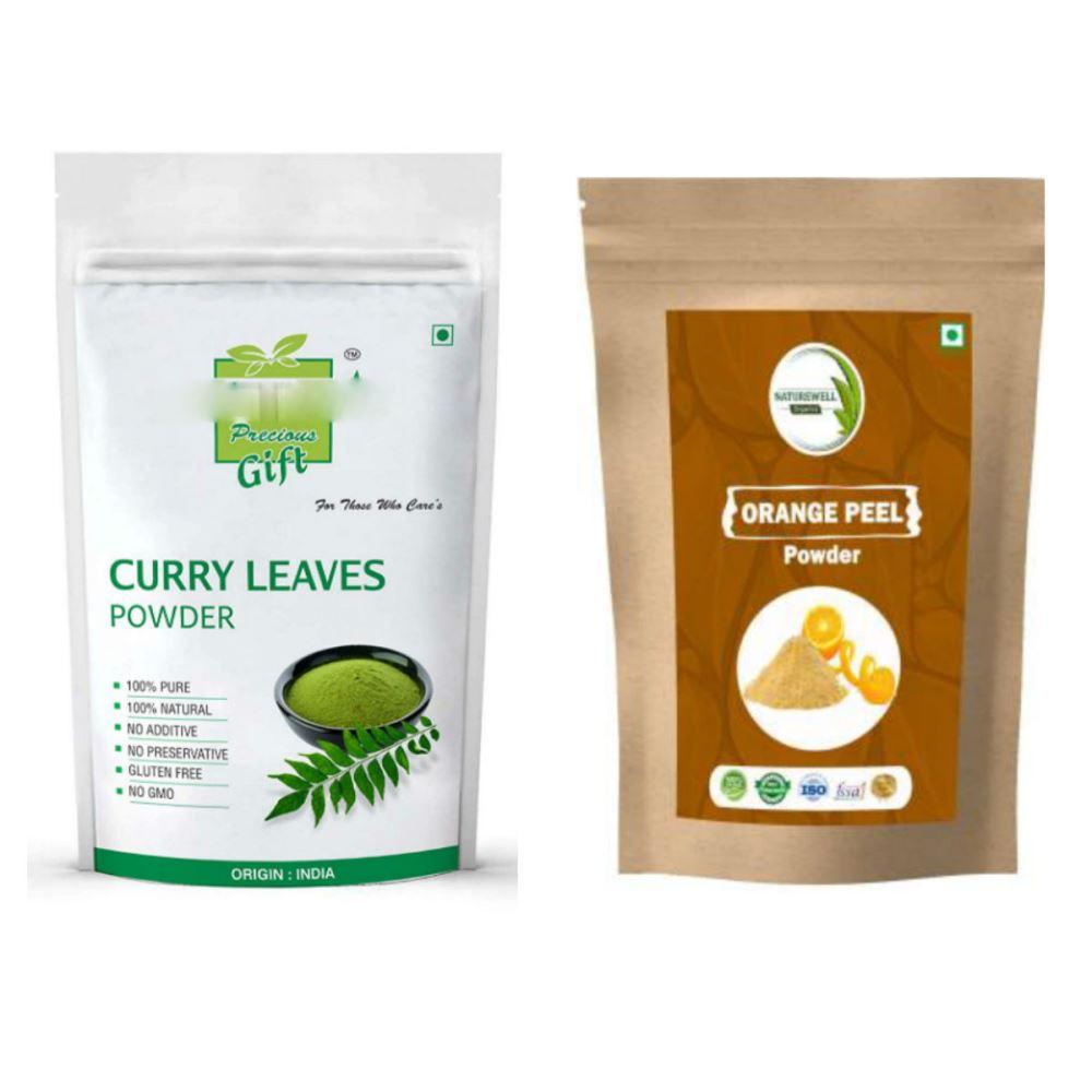 Indirang Curry Leaf Powder(100G) Powder & Orange Powder(100G) Combo Pack (1Pack)