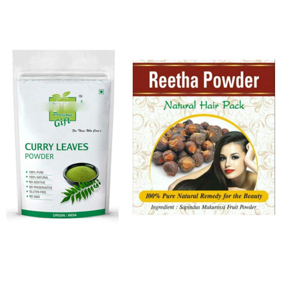 Indirang Curry Leaf Powder(100G) Powder & Reetha Powder(100G) Combo Pack (1Pack)